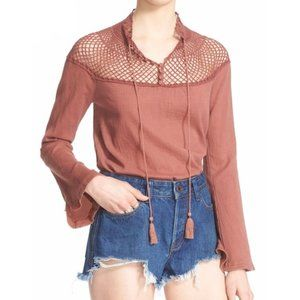 Free People On the Island Blouse SPICE size S